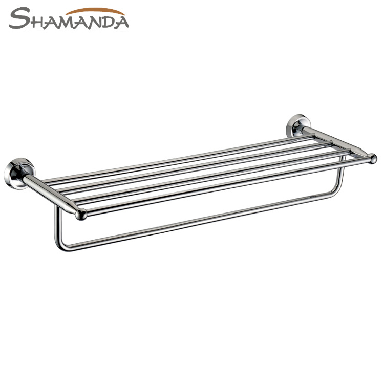 Seconds Kill Free Shipping Bathroom Accessories Solid Chrome Finished Double-deck Towel Rack,bathroom Products Bar-50012 free shipping kill la kill ryuko matoi 35cm length wig cosplay wigs for costume