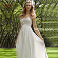 Vivian's Bridal Sexy Empire Beaded Sweetheart Off the Shoulder Floor-Length Evening Dresses Hot Sale Summer Dress Chiffon EM01