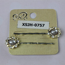 2 pieces/sets of stainless steel long fashion hairpin with pearls Women jewelry crystal flowers The girl's birthday present 2015(China)
