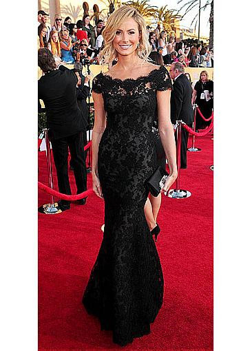 8e88bb93271 Stacy Keibler Overall Lace Mermaid Bateau Red Carpet Black Evening Dress  Screen Actor  s ...