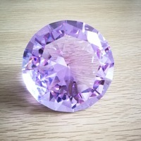 1pc purple color 80mm K9 crystal diamond for Wedding house decoration free shipping