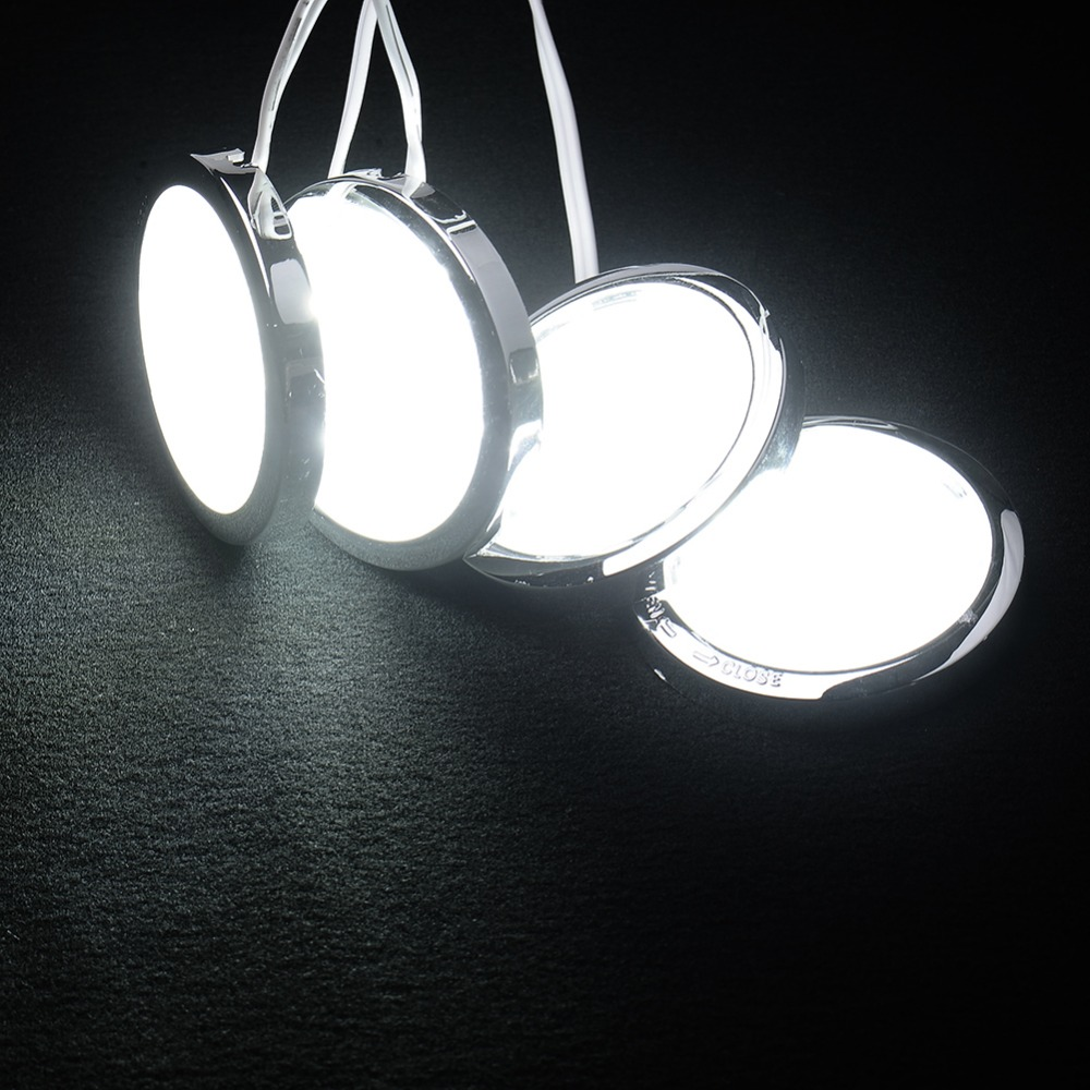 New Arrival 4pcs Round Home Kitchen Led Under Cabinet Countes