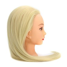 CAMMITEVER Professional 20 Blonde Hairdressing Dolls Head Female Mannequin Styling Training High Quality