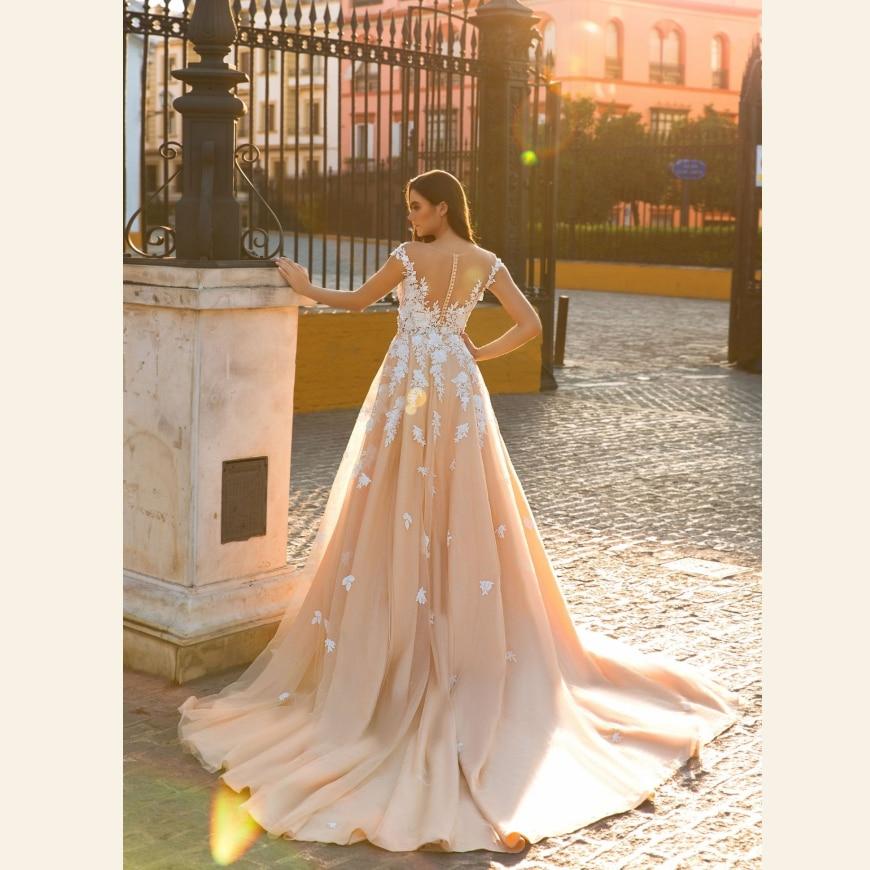 Groß Pfirsich Hochzeitskleid Ideen - Brautkleider Ideen - cashingy.info