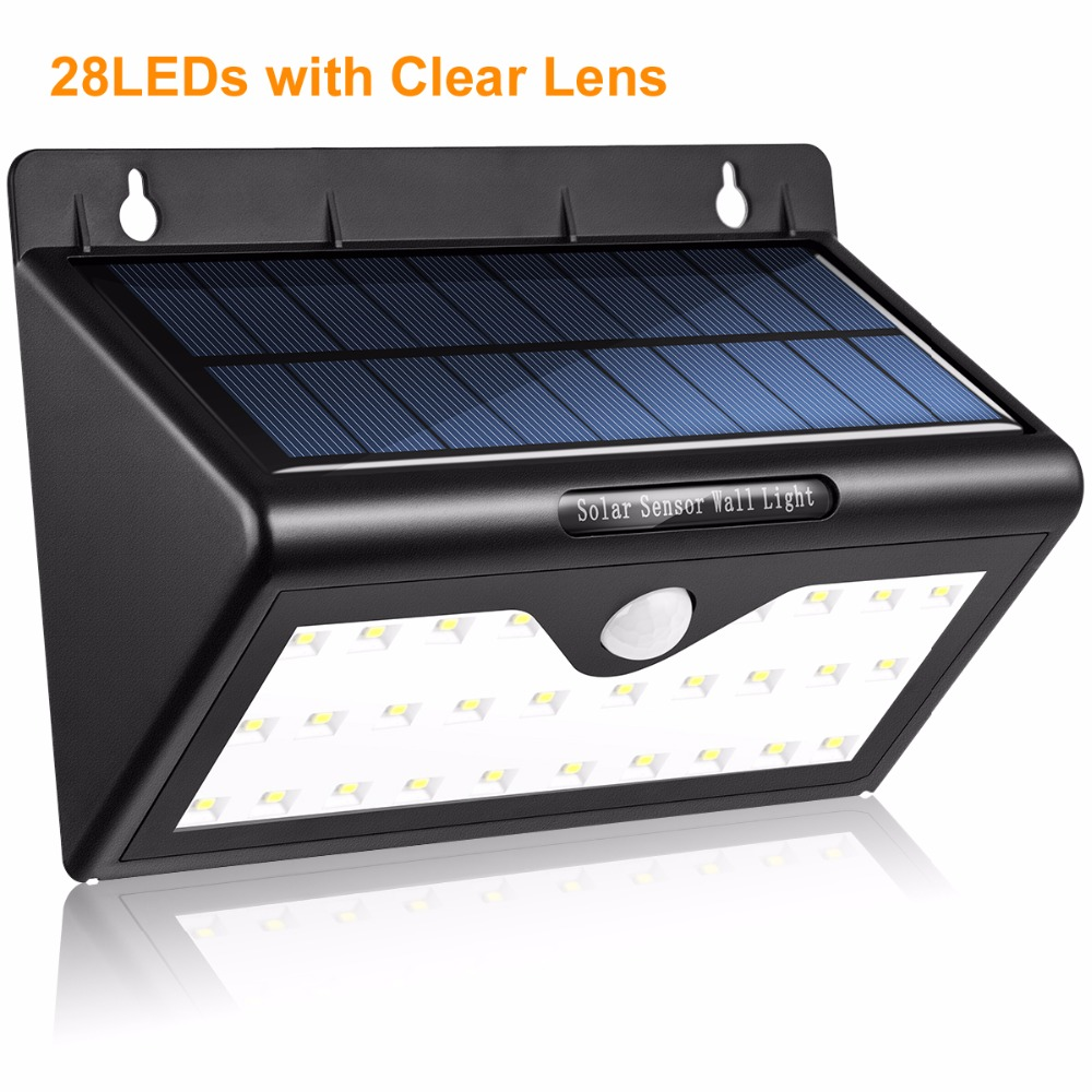 ECOG Supler Bright LED Solar Light Waterproof 46LEDs Solar Lamp Outdoor Lighting Wall Lamp Solar Night Light Montion Sensor