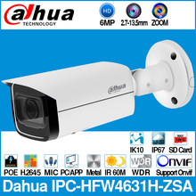 Dahua IPC-HFW4631H-ZSA 6MP IP Camera Built-In MiC Micro SD Card Slot 2.7-13.5mm 5X Zoom VF Lens PoE WDR CCTV Camera with bracket(China)