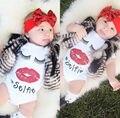 Freeshiping Лето стиль Baby Girl Мальчики Одежда Новорожденного Тела Младенца Ropa Bebe Следующий Ребенок Боди