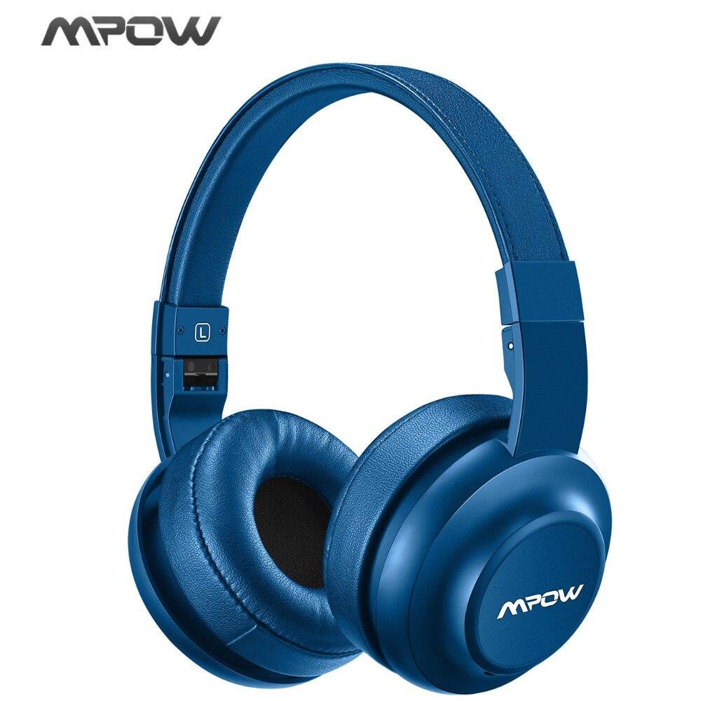 D'origine Mpow H2 Bluetooth Sans Fil/Filaire Casque 4 EQ Son Modèle Antibruit Casque Avec Micro Pour iPhone 8 Samsung