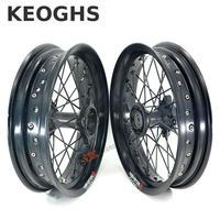 Keoghs Dirt Bike Wheel Rims Front And Rear 2.5 3.0 14 Inch Front And Rear Wheel For Pit Bike Motocross Ktm Crf Kawasaki Honda
