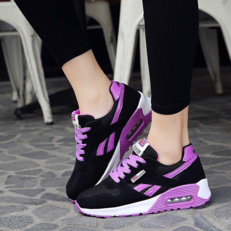 Zapatillas para correr para mujer 2018 ligeras zapatillas de deporte para caminar transpirables zapatillas deportivas de plataforma