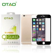 OTAO Полное Покрытие Протектор Экрана Закаленное Стекло Пленка Для Apple iPhone 6 6 S Плюс 2.5D 5.5 inch Белое Золото 9 H С Розничной Упаковке