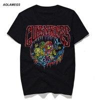 Aolamegs T Shirt Men Guns Roses 3D Print Metal Rock Tshirt Male Couples Summer Cotton Casual