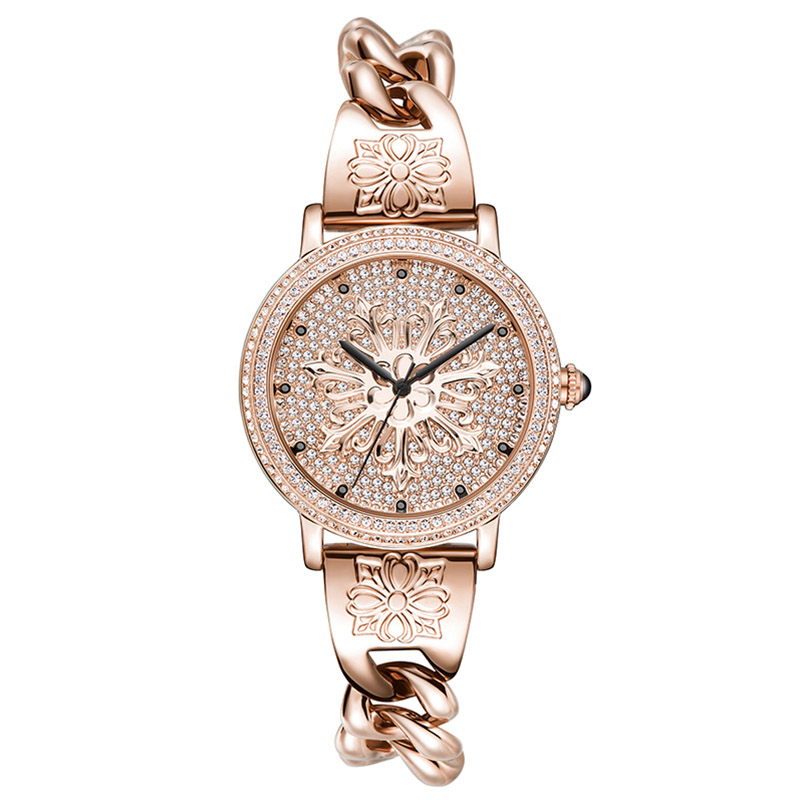 New Ladies Fashion Bracelet Watches Women Quartz Watch Top Brand Luxury Large Dial Waterproof Watch Rose Gold Relogio Feminino relogio luxury quartz women watches brand gold fashion business bracelet ladies watch waterproof wristwatch relogio femininos