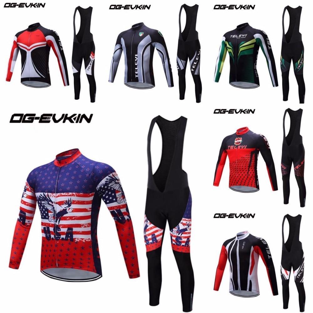2018 Spring Men Pro Team Sport Cycling Long Sleeve Jersey Pant Trouser Set for Road Bicycles MTB Bike Ciclismo S M L XL XXL XXXL shengqi men s long sleeve cycling jersey pants set green black m