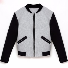 2017 Atutmn winter Women basic coats bomber jacket Long Sleeve Stand Collar pullover Tops Jacket Short Coat Outwear chaquetas