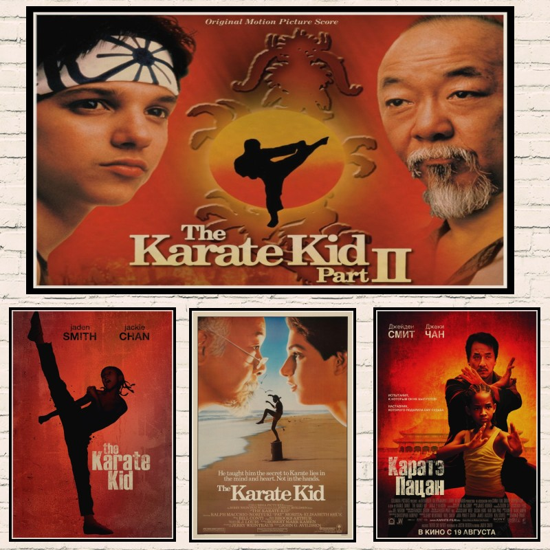 The Karate Kid Jackie Chan classics Home Furnishing decoration Kraft Movie Poster Drawing core Wall stickers image