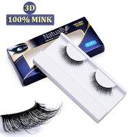 3D Mink Fur Lashes 100 Real Mink Hande Made False Eyelash Makeup Natural 3D Fake Thick