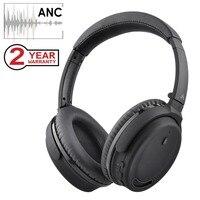 Avantree активный шумоподавление Bluetooth 4,1 наушники с микрофоном, Беспроводные Проводные Удобные Складные стерео наушники ANC