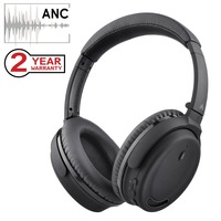Avantree Active Noise Cancelling Bluetooth 4.1 Headphones Mic, Wireless Wired Comfortable Foldable Stereo ANC Over Ear Headset