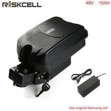 Бесплатная доставка 48 V 15AH электрический велосипедный аккумулятор 48 V 1000 W литий-ионный аккумулятор с зарядным устройством + BMS + чехол с лягушкой для samsung cell