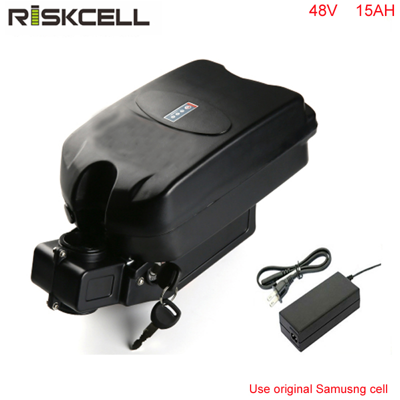 Frete grátis 48 V 15AH 48 V 1000 W Bateria Li-ion Bateria Bicicleta Elétrica com carregador + BMS + Sapo caso para Samsung celular