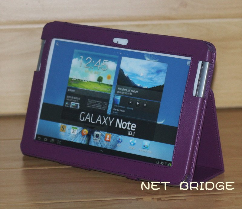 FOR Samsung Galaxy Note 10.1 N8000 Leather Case ; New Tab N8100 STAND Leather Cover Case gift screen protectors+ touch pen;