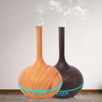 Essential Oil Diffuser Air Humidifier Ultrasonic Strong Mist Aroma Aromatherapy Diffuser Wood Grain Air Filter Fogger for Home