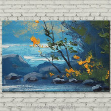 Hand painted Canvas Oil painting Wall Pictures for Living room wall decor art canvas painting palette knife landscape painting 4