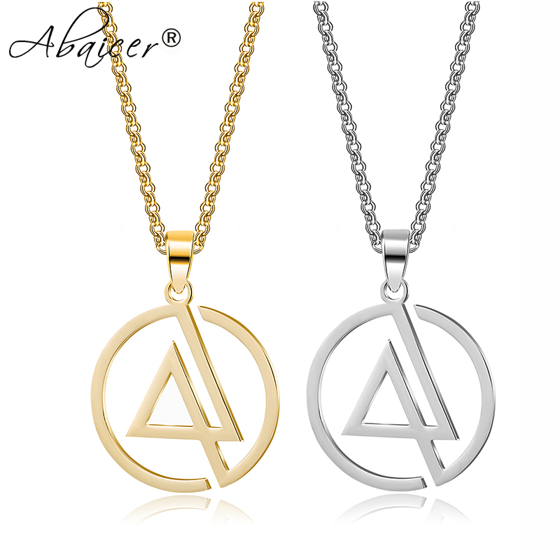 - Linkin Park Pendant Choker Statement Silver Stainless Steel Necklace For Women Dress Accessories