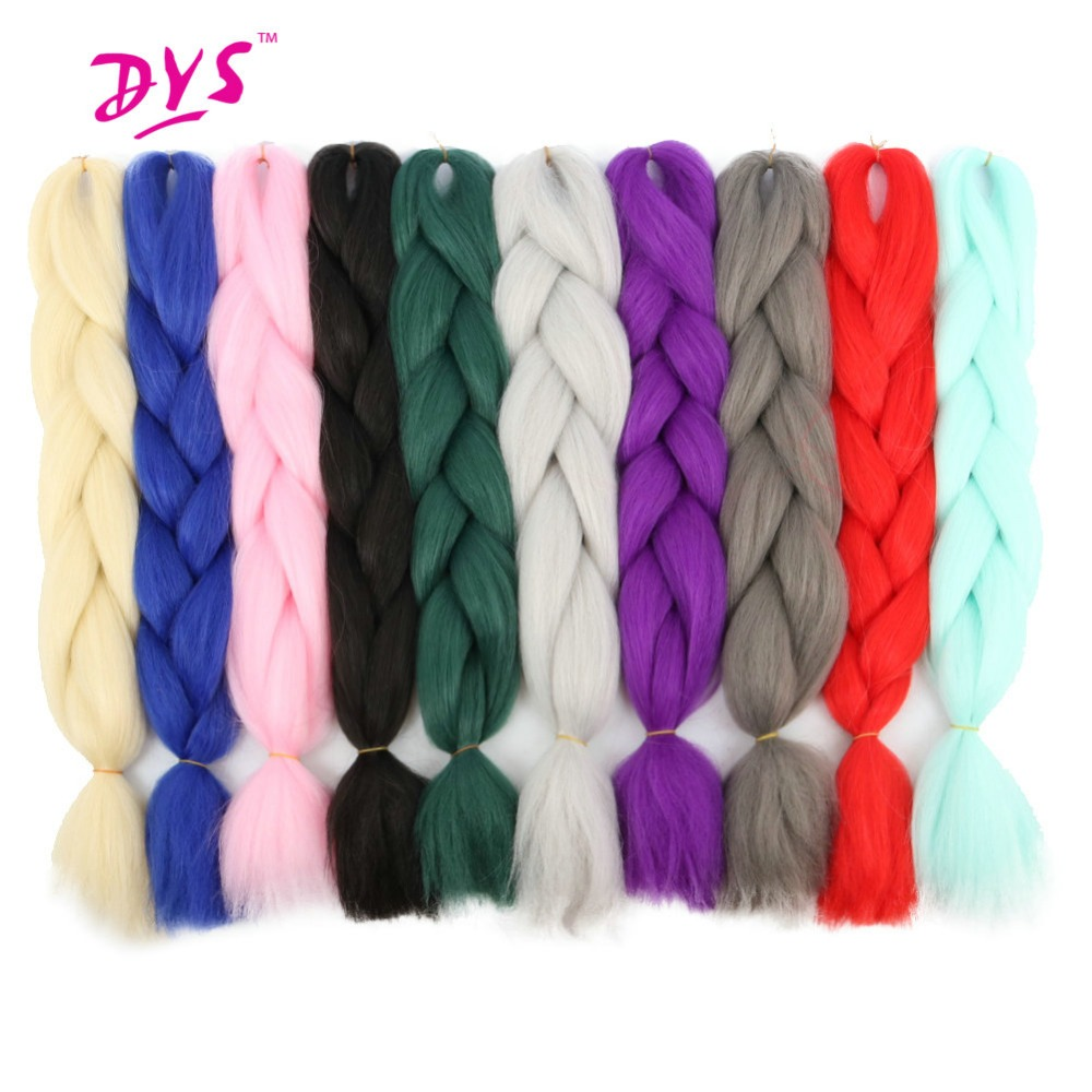 Deyngs 5strands pack Synthetic Braiding Hair Pure Color High Temperature Kanekalon Jumbo Braid Hair Extensions 24inch