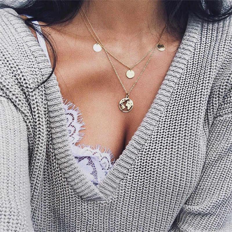 Đời Boho Dương Bãi Biển Cowrie Vỏ Vòng Cổ Đa Lớp Mặt Dây Chuyền Nữ Choker Kolye Collares Bãi Biển Mùa Hè Trang Sức Collier