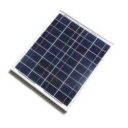BUHESHUI 20 W 18 V krzem polikrystaliczny panel słoneczny do 12 V energii fotowoltaicznej System domowy 20WP 12VDC + kabel darmowa wysyłka