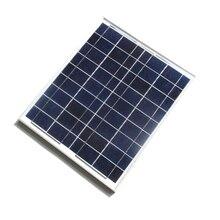 Высокое Качество 20 Вт 18 В Поликристаллических Кремниевых Солнечных Панелей Для 12 В Фотоэлектрической Энергии Домашней Системы 20WP 12VDC + кабель Бесплатная Доставка