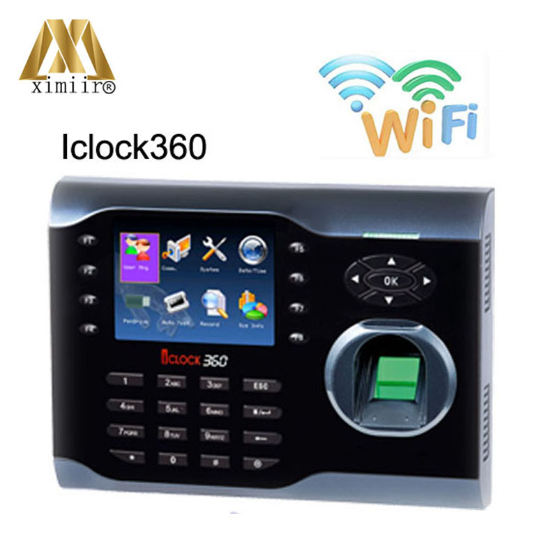 High-Speed ZK Fingerprint Time Attendance Terminal Iclock360 WIFI Function Fingerprint Time Clock System