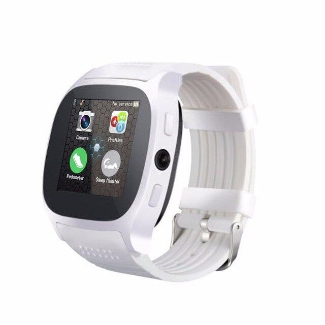 T8 بلوتوث 1.5 بوصة TFT LCD ساعة ذكيّة بشاشة لمس مع كاميرا الفيسبوك ال Whatsapp دعم SIM TF بطاقة دعوة Smartwatch