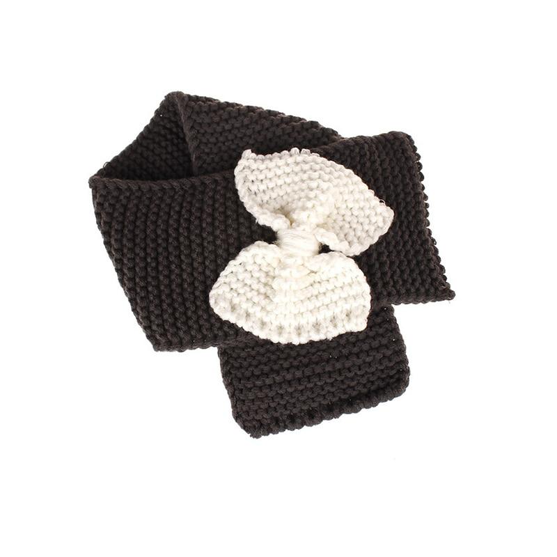 Осенне-зимний теплый шарф для мальчиков и девочек, шаль-снуд, шарфы - Цвет: Темно-серый