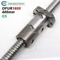 TBI C3 Ballscrew DFU1605 NEW OFU1605 High Precision Ball screw 1605 with Anti Backlash Double nut 400mm