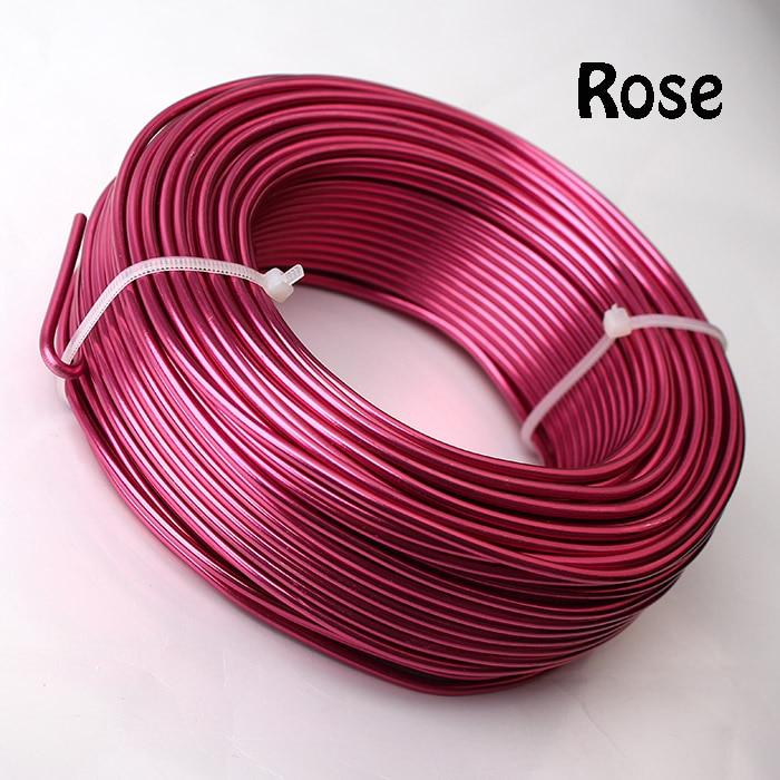 0,5 кг анодированная художественная алюминиевая проволока 2,5 мм 10 Калибр 39 м 43yd цветные украшения Мягкая металлическая проволока постоянные цвета - Цвет: Rose