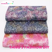 15pcs 2 High Quality Top Level Mix Color Chunky Glitter Leather Synthetic Leather DIY Fabric 20x22cm