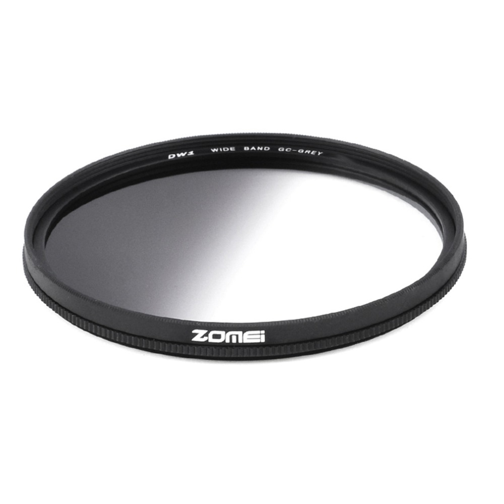 Zomei Super Slim Lightweight Graduated Grey Neutral Density ND Optical Filter For Camera 49mm 52mm 58mm 67mm 72mm 77mm светофильтр fujimi grad grey 67mm