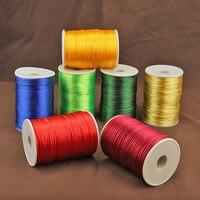 2Mm 100Yards Soft Macrame Silk Satin Nylon Cord Rope For Diy Bracelet Jewelry Making Findings Beading Braided Shamballa Thread