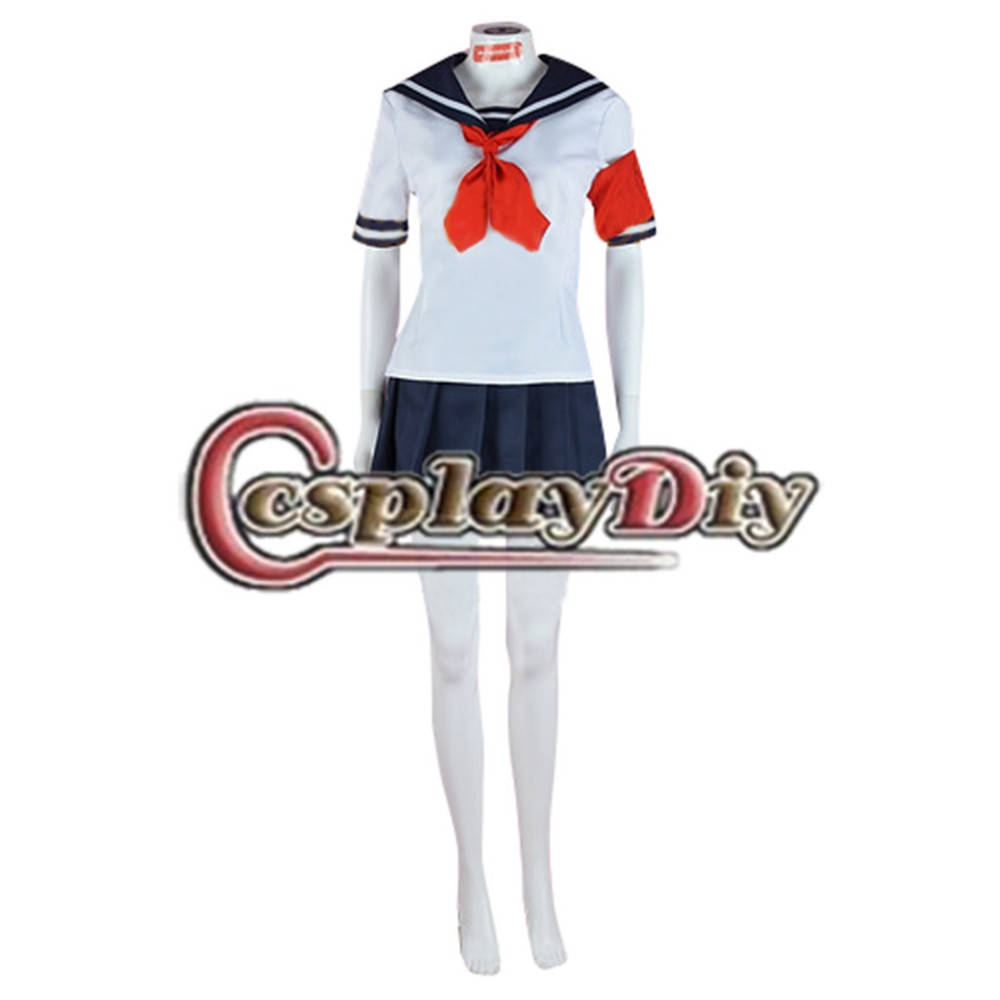Cosplaydiy Japanese Game Yandere Simulator Oka Costume Adult Women Halloween Carnival Cosplay Costume Custom Made