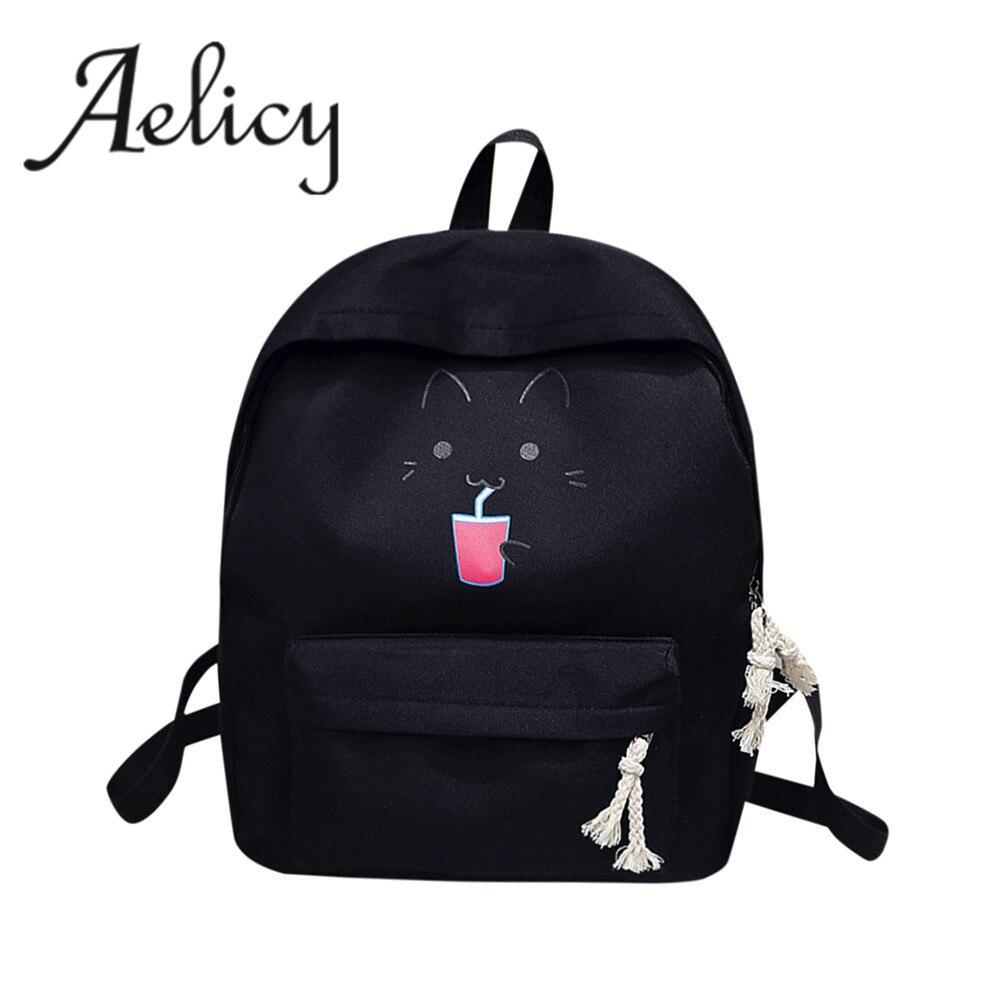 41151bed1e5e Aelicy Роскошный милый женский брендовый рюкзак с героями мультфильмов  женский новый рюкзак мода Mochila Feminina рюкзаки для девочек-подростков  Rugzak