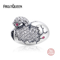FirstQueen 925 Sterling Argent Chinois Mandarin Canard Perles Charms fit Bracelets originaux Animaux Bijoux Accessoires