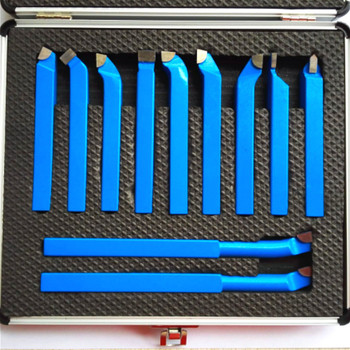 11PCS Metal Carbide CNC Lathe Tools Brazed Tipped Cutter Tool Bit Cutting Set Kits Welding Turning Holder - discount item  42% OFF Machinery & Accessories