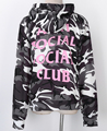 CamouflageThe New 2017 ANTI SOCIAL SOCIAL CLUB The Snow Camo Sweatshirts Drawstring Men And Women Hoodies Brand Clothing M-XL