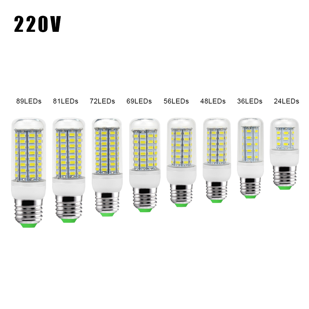 E27 GU10 LED Bulb SMD 5730 110V 240V Corn Bulb 24 36 48 56 69 72 LEDs Chandelier Candle LED Light For Home Ampoule