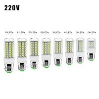 E27 GU10 bombilla LED 5730 SMD 110V 240V bombilla de maíz 24 36 48 56 69 72 lámpara colgante de LED vela LED luz para el hogar de la ampolla