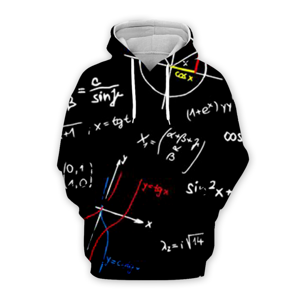 Plstar Cosmos Math Science Hoodies For Boy Graphic 3d Sweatshirts/Vest/Tee Men/Women Funny Print Einstein Zipper Casual Style-1
