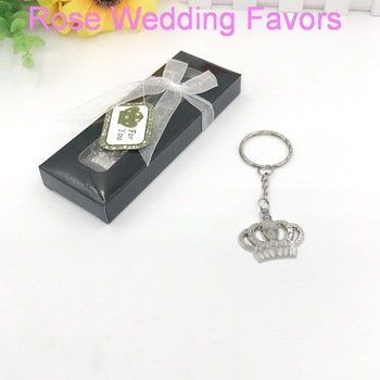 (15pcs/Lot)FREE SHIPPING+Majestic Crown Key Chain Baby Shower Favors Birthday Party Giveaway Gift For Guest 1